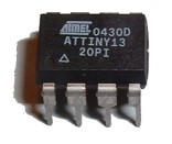 ATmel ATTiny13-20P MCU